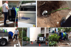Application - Cleaning A Sewer Line From Newly Installed Cleanout