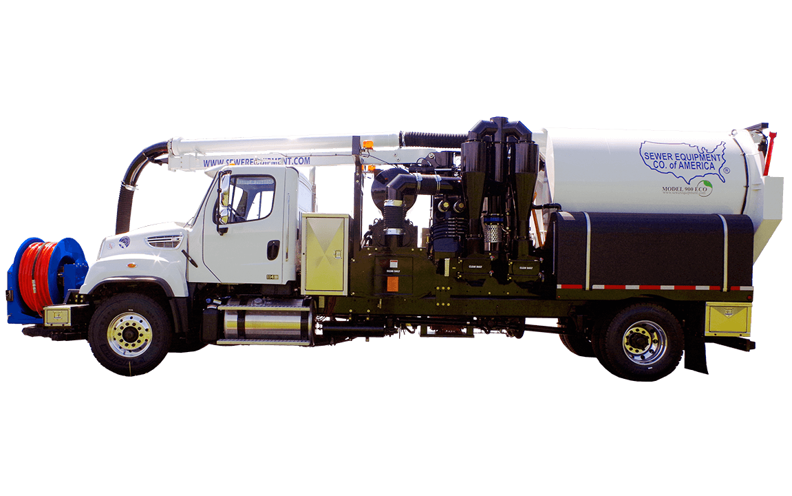 Sewer Equipment Co. of America, Combination Sewer Cleaner, Model 900 ECO, hydrovac