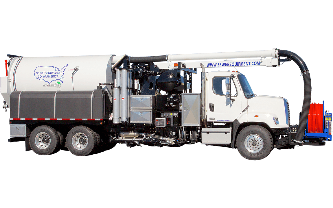 Sewer Equipment Co. of America, Combination Sewer Cleaner, Model 900 ECO, hydrovac, jet vac truck