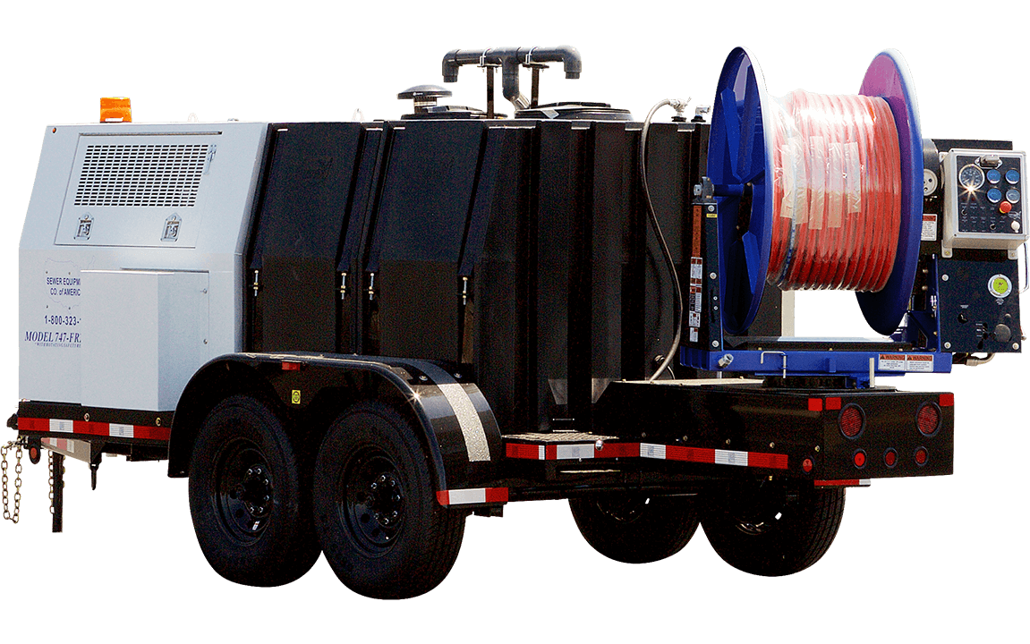Model 747, Jetter Trailer, Sewer Equipment Co. of America