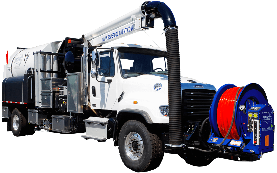 Sewer Equipment Co. of America, Combination Sewer Cleaner, Model 900 ECO, hydrovac, Jet Vac