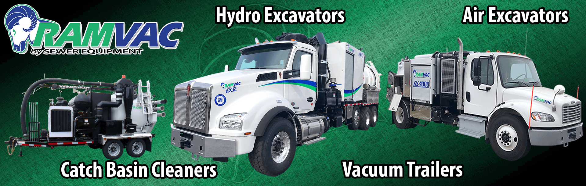 RAMVAC, Hydro Excavators, Air Excavators, Catch Basin Cleaners, Vacuum Trailers