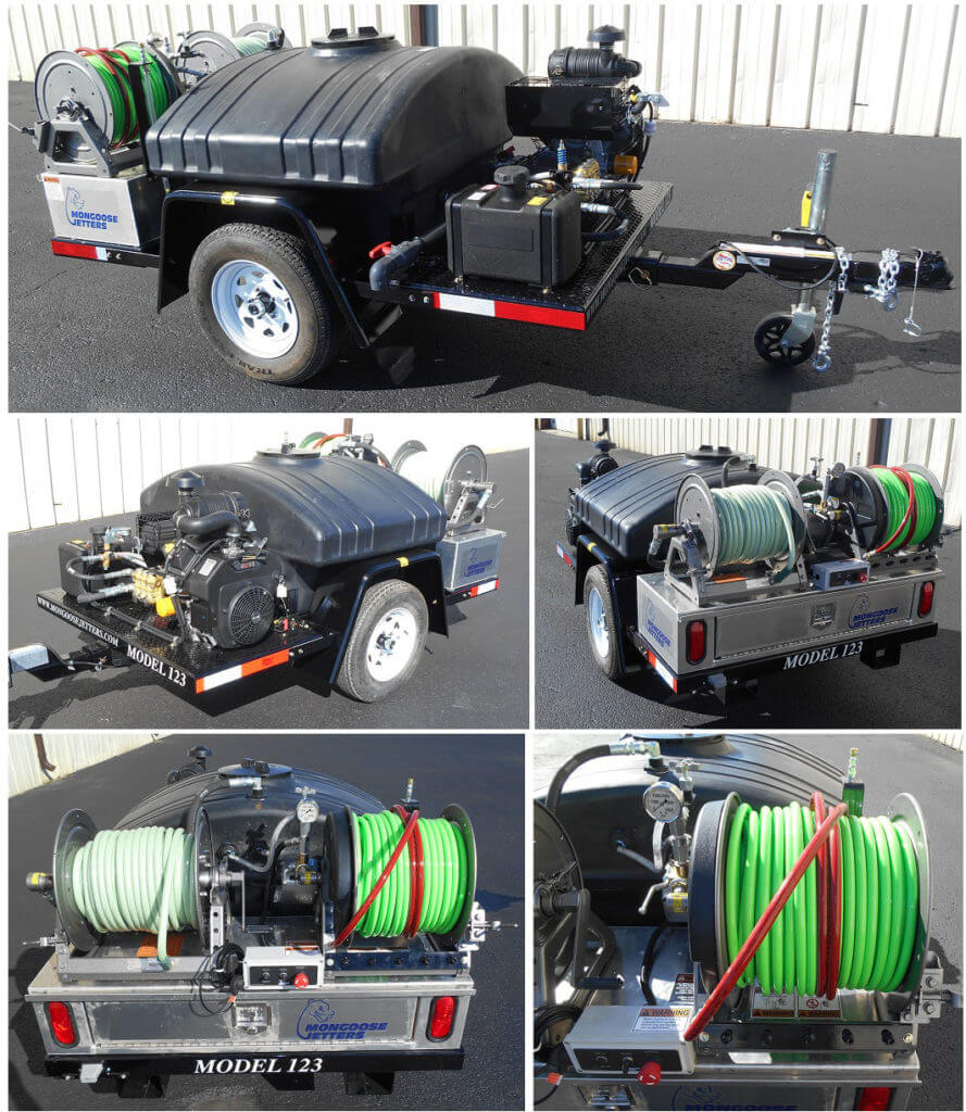 Model 123, 12GPM@3000PSI, Jetter Trailer