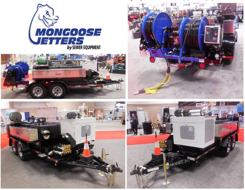 Mongoose Jetters, Model 254XL, Trailer Jetter, 25GPM@4000PSI