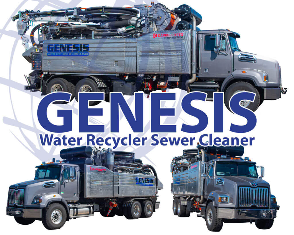 Genesis Water Recycler Sewer Cleaner application photos