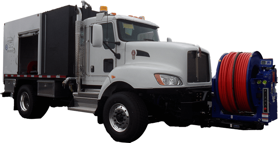 Model 800 Truck Jetter Series - Front View